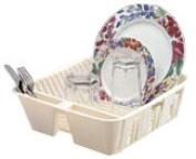 Rubbermaid FG6049ARWHT White Plastic 36cm Dish Drainer [Kitchen]