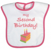Dee Givens & Co-Raindrops 6437 My Second Birthday Medium Bib - Strawberry