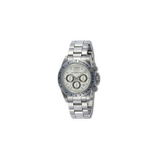 Invicta 9211 Mens Speedway Chronograph in all Stainless Steel on Bracelet With a White Dial