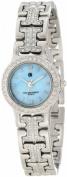 Charles-Hubert Paris 6791-W Light Blue MOP Dial with 4 Interchangeable Bezels Watch