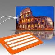 Insight Design 770808 TagCrazy Luggage Tags- The Colloseum Rome Italy- Set of Three