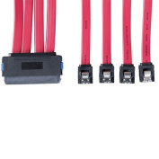 Tripplite S502-20N 20 Inch SFF-8484 Internal SAS Cable - 4-in-1 32Pin to 4 x 7pin Cable