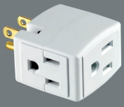 Leviton Plug-In Outlet Adapter Single To Triple Tap C22-00692-00W