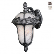 Rose Garden F-1711-SW-SG Small Top Mount Light with Alabaster Glass-Swedish Silver