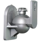 CMPLE 1066-N Speaker Wall Mount for satellite speakers, Silver - Pair