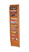 Wooden Mallet MR48-10MO Cascade 10 Pocket Magazine Rack in Medium Oak