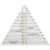 Dritz 86810 Fons & Porter Pyramid Ruler-2.5cm . to 15cm .