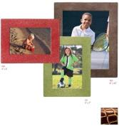 Raika JU 190 WINE 10cm x 15cm Square Edge Leather Frame - Wine
