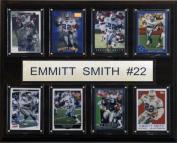 C & I Collectables 1215EMSMITH8C NFL Emmitt Smith Dallas Cowboys 8 Card Plaque