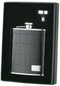 Visol VSET33 Beau Monde Crocodile Leather 6oz Flask Gift Set