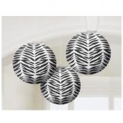 Zebra Stripes Animal Print Paper Lanterns