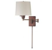 Dainolite DWL80DD-OBB 1 Light Swing Arm Cream Linen Shade - Oil Brushed Bronze