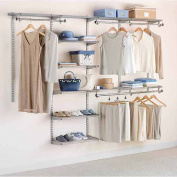 Rubbermaid Home Prod Dorfile FG3H8900TITNM 1.2m to 2.4m Deluxe Closet Kit, Titanium