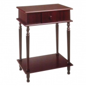 Ore International H-113 Rectangle Side Table - Cherry -28