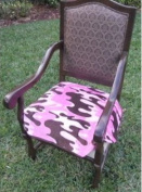 SpecialTex CS-DCSP-PI CAMO CleanSeat Dining Chair Protector PINK CAMO