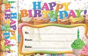 Bookmark Awards Happy Birthday Cupcakes