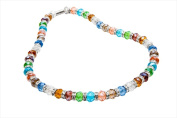 Alexander Kalifano WHITE-NGG-01 White Tag Gorgeous Glass Necklaces - Multi-Colored