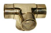 Hardware Distributors L00 735 2 5.1cm . Flush Side Outlet Tee - Polished Brass