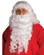 Rubie's Costume Co Santa Beard And Wig Set, White, One Size