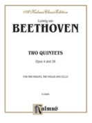 Alfred 00-K02084 Two Quintets- Op. 4 and Op. 29 - Music Book
