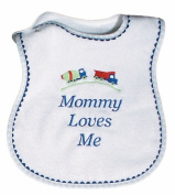 Dee Givens & Co-Raindrops 6060 Mommy Loves Me Boy Medium Bib - Royal