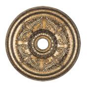 Livex Lighting 8210-65 Ceiling Medallion, Hand Painted Vintage Gold Leaf