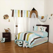 One Grace Place 10-33122 Puppy Pal Boy 4 Piece Full Kids Bedding Set
