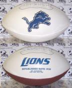 Creative Sports FB-LIONS-Signature Detroit Lions Embroidered Logo Signature Series Football
