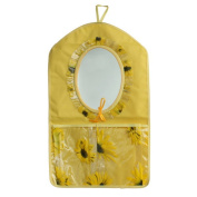 Blancho Bedding BN-WH030 Flowers Mirror Yellow/Wall Hanging/ Wall Organizers / Wall Baskets / Baskets