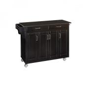Kitchen Cart with Granite Top - Black