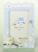 Lillian Rose 24FR210 OB 4 x 6 Owl Frame - Blue