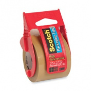 3M Commercial Office Supply Div. MMM143 Packing Tape- w- Dispenser- 1-.127cm . Core- 5.1cm .x2032cm .- Tan