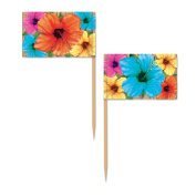 Beistle 60095 Hibiscus Picks Party Decorations