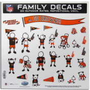 CLEVELAND BROWNS NFL FAMILY CAR DECAL SET