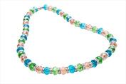Alexander Kalifano WHITE-NGG-03 White Tag Gorgeous Glass Necklaces - Multi-Coloured