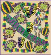 Beistle - 55102 - Mardi Gras Decorating Kit - 19 Pieces