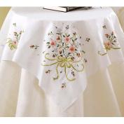 Bucilla Stamped Cross Stitch Table Topper 100cm x 100cm -Bridal Bouquet