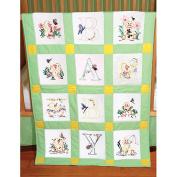 Fairway 493874 Stamped Baby Quilt Blocks 46cm . x 46cm . 6-Pkg-Duck Baby