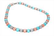 Alexander Kalifano WHITE-NGG-16 White Tag Gorgeous Glass Necklaces - Multi-Coloured
