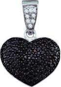 Gold and Diamonds PWZA1069-W 0.55CT-DIA HEART PENDANT- Size 7