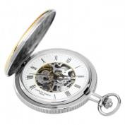Charles-Hubert- Paris 3859 Two-Tone Mechanical Pocket Watch