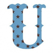 Wallcandy Arts su Luv Letters Stars U in Blue - Pack of 2