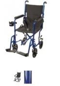 ATC17-BL - Drive Medical Lightweight Transport Wheelchair, 17 Seat, Blue