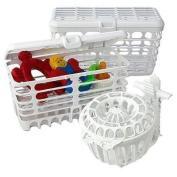 Prince Lionheart 1506 Dishwasher Basket System - White