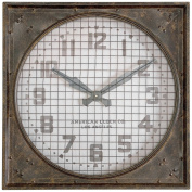 Uttermost 06083 Warehouse Wall Clock with Grill