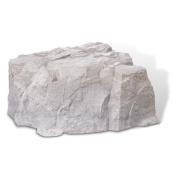 DekoRRa 111-FS Artificial Rock Fieldstone-Gray - Covers Septic Lids Up To 14in High