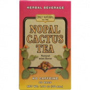 Only Natural 1086339 Nopal Cactus Tea Caffeine Free Natural Mint - 20 Tea Bags
