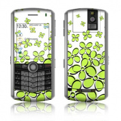 DecalGirl BBP-DFIELD-GRN BlackBerry Pearl Skin - Daisy Field - Green