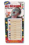 Bobbie Weiner Deluxe 11 Sports Fan Face Paint Crayon Kit, 50ml