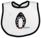 Dee Givens & Co-Raindrops A90135 Penguin Appliqued Small Bib - White
